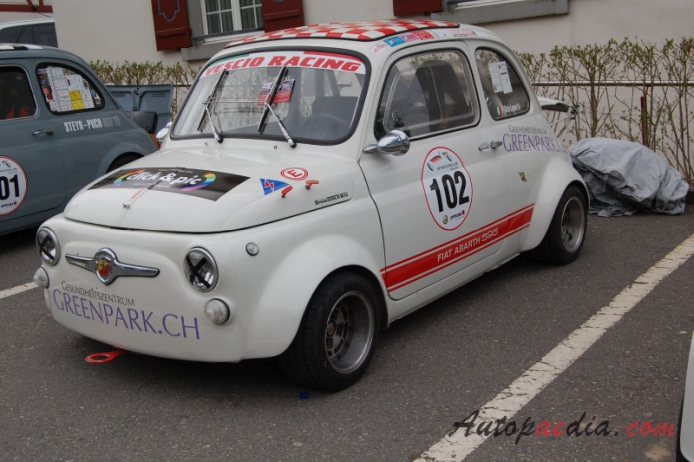 Fiat Abarth 595 1963 1971 1965 Left Front View