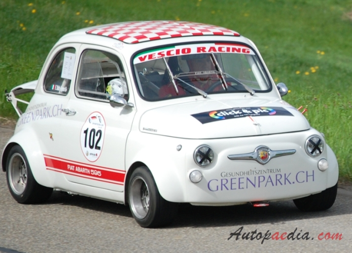 Fiat Abarth 595 1963 1971 1965 Right Front View