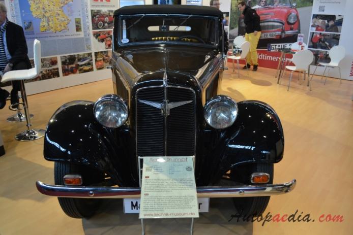 Adler Trumpf 1932 1938 1936 1 7 Av Cabriolet 2d Front View