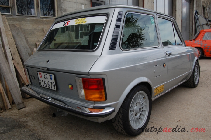 Autobianchi A112 3rd series 1975-1977 (1975 Abarth), right rear view ...