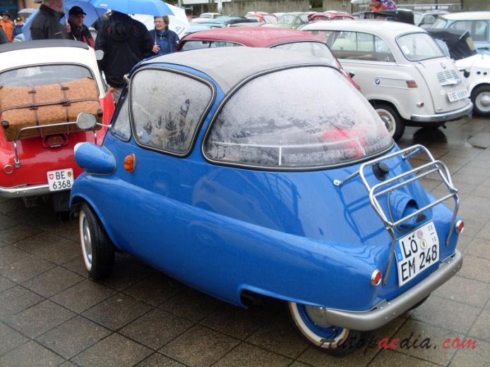 BMW Isetta Standard 1955-1956 (1955 250cc), left rear view ...