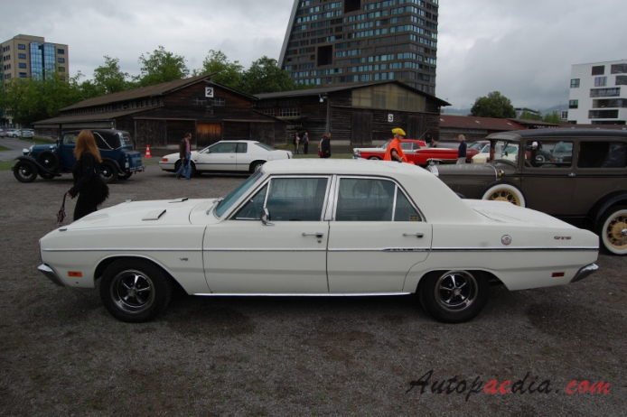 Dodge Dart 4th generation 19671976 1969 Custom GTS sedan 4d
