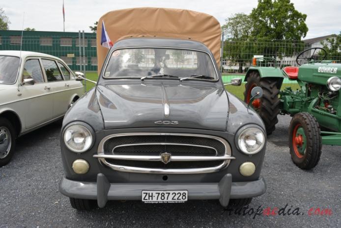 Peugeot 403 1955 1966 1958 Pickup 2d Front View Autopaedia