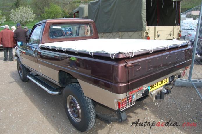 peugeot 504 1968 1983 1980 1983 dangel 4x4 pickup 2d left rear view autopaedia. Black Bedroom Furniture Sets. Home Design Ideas